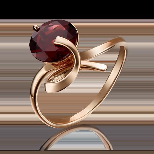 Кольцо из красного золота гранатом 01-1432-00-204-1110-46