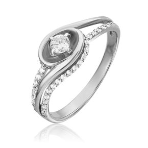 Кольцо из белого золота с бриллиантом 01-5542-00-101-1120-30