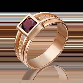 Печатка из красного золота с гранатом 01-5281-00-204-1110-57