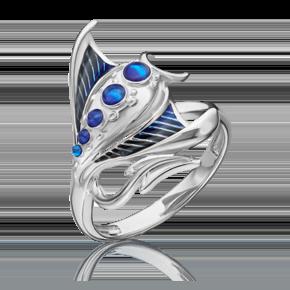 Кольцо из серебра с эмалью 01-5480-00-000-0200-68