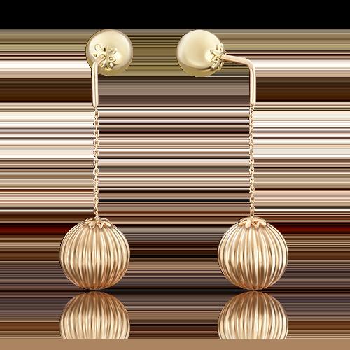 Серьги-пусеты из комбинированного золота 02-3572-01-000-1113-01