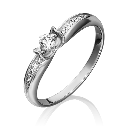 Кольцо из белого золота с бриллиантом 01-4961-00-101-1120-30