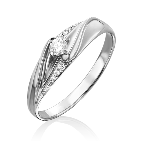 Кольцо из белого золота бриллиантом 01-4962-00-101-1120-30