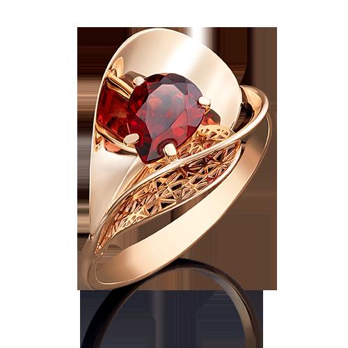 Кольцо из красного золота гранатом 01-4963-00-204-1110-46