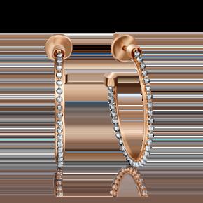 Серьги-конго из комбинированного золота 02-4229-00-000-1111-48