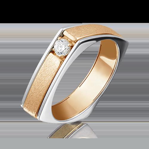 Кольцо из комбинированного золота бриллиантом 01-5133-00-101-1111-30