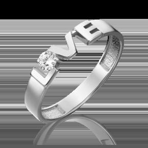 Кольцо из белого золота с фианитом 01-5340-00-401-1120-03