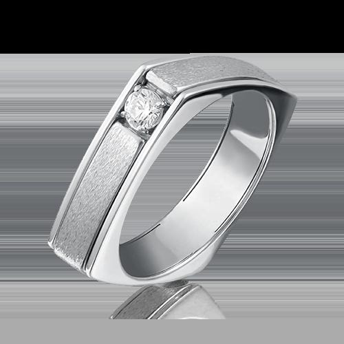 Кольцо из белого золота бриллиантом 01-5133-00-101-1120-30