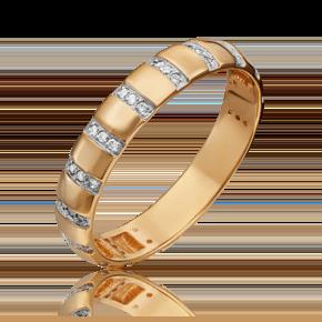Кольцо из красного золота с фианитом 01-1790-00-401-1110-32
