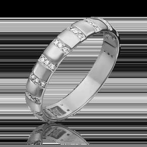 Кольцо из белого золота с фианитом 01-1791-00-401-1120-32