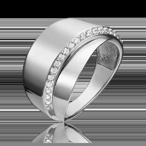 Кольцо из белого золота с фианитом 01-5398-00-401-1120-23