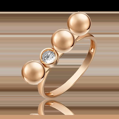 Кольцо из красного золота с топазом white 01-5510-00-201-1110