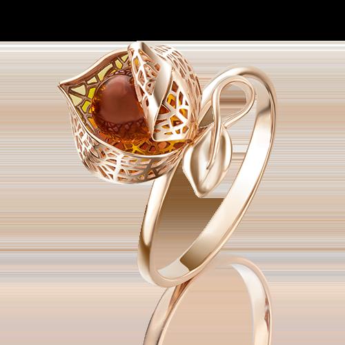 Кольцо из красного золота эмалью 01-5074-00-271-1110-58