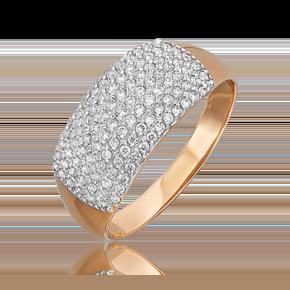 Кольцо из красного золота с бриллиантом 01-1489-00-101-1110-30