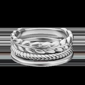 Наборное кольцо из серебра 13-0010-00-000-0200-68