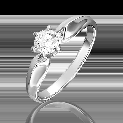 Кольцо из белого золота бриллиантом 01-0921-00-101-1120-30