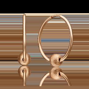 Серьги-конго из красного золота 02-4387-00-000-1110-04