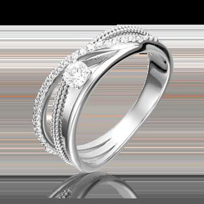 Кольцо из белого золота с бриллиантом 01-5220-00-101-1120-30