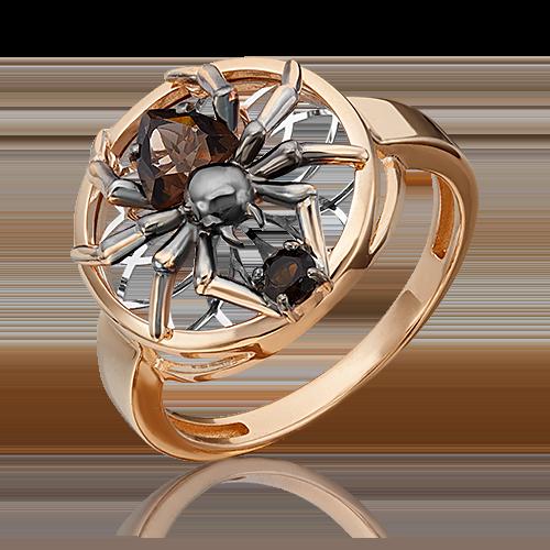 Кольцо из комбинированного золота с кварцем дымчатым 01-5461-00-202-1111-75