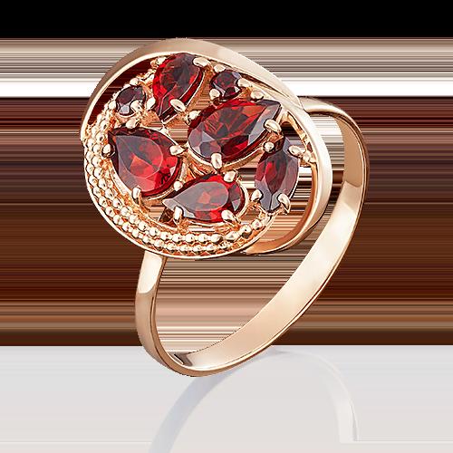Кольцо из красного золота с гранатом 01-5043-00-204-1110-46