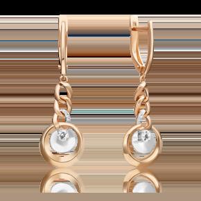 Серьги из комбинированного золота с топазом white 02-4833-00-201-1111