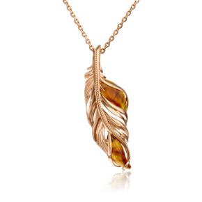 Подвеска из красного золота с янтарём 03-2989-00-271-1110-46
