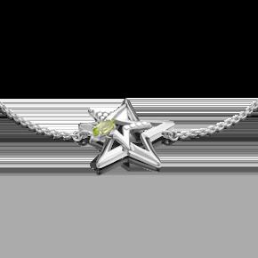 Браслет из серебра с хризолитом 05-0660-00-205-0200-69