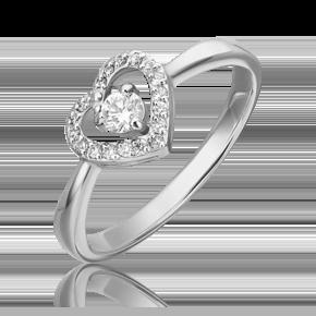 Кольцо из белого золота с бриллиантом 01-5543-00-101-1120-30