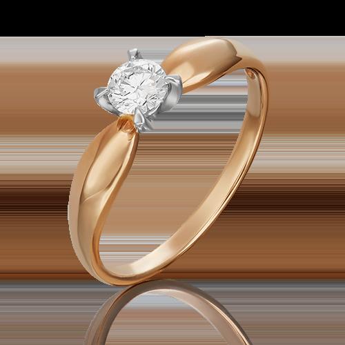 Кольцо из комбинированного золота с бриллиантом 01-0545-00-101-1111-30