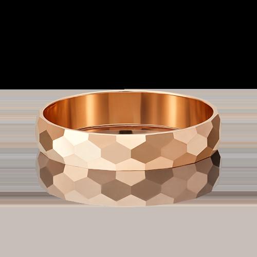 Обручальное кольцо из красного золота 01-5376-00-000-1110-18