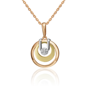 Подвеска из комбинированного золота с бриллиантом 03-3313-02-101-1140-30