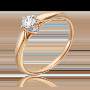 Кольцо из красного золота с бриллиантом 01-5540-00-101-1110-30