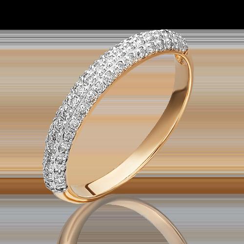 Кольцо из красного золота с бриллиантом 01-1479-00-101-1110-30