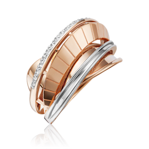 Кольцо из красного золота с фианитом 01-5247-00-401-1110-48