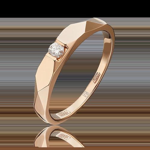Кольцо из красного золота с бриллиантом 01-4942-00-101-1110-30