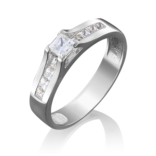 Кольцо из белого золота бриллиантом 01-4943-00-101-1120-30