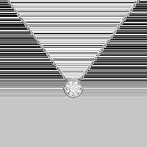 Колье из белого золота с бриллиантом 07-0004-00-101-1120-30