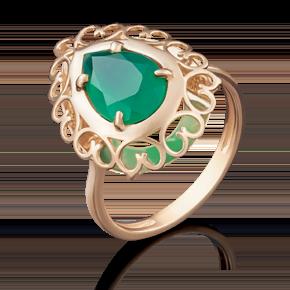 Кольцо из красного золота с халцедоном 01-4799-00-274-1110-47
