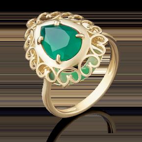 Кольцо из лимонного золота с халцедоном 01-4799-00-274-1130-47