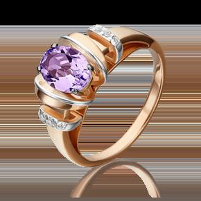 Кольцо из красного золота с аметистом и топазом white 01-5315-00-225-1110-57