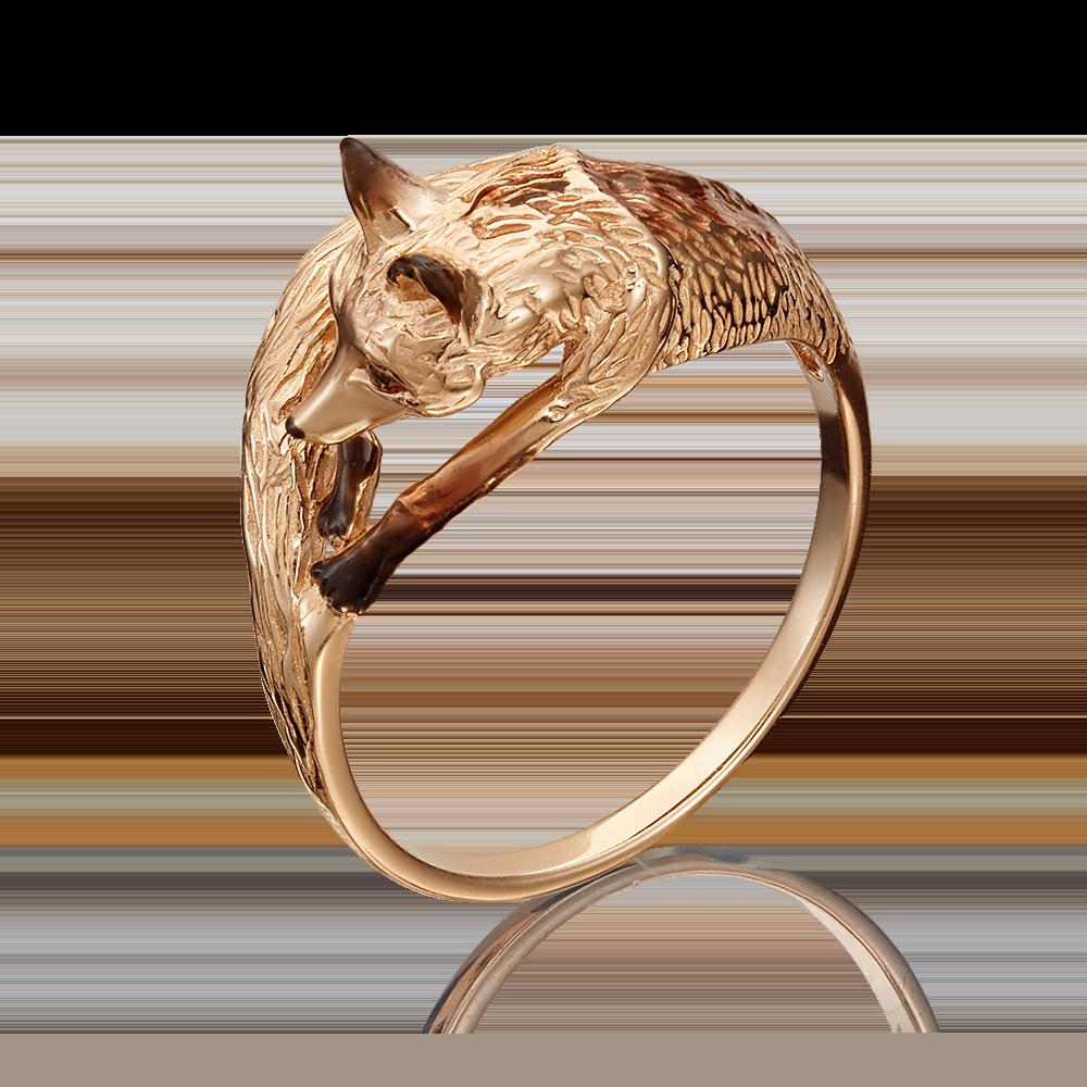 Кольцо из красного золота с эмалью 01-5342-00-000-1110-25