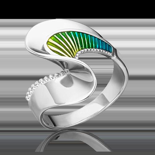 Кольцо из серебра с эмалью 01-5475-00-000-0200-68