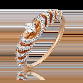 Кольцо из комбинированного золота с бриллиантом 01-5538-00-101-1111-30