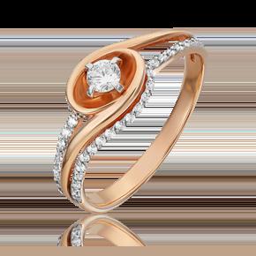 Кольцо из комбинированного золота с бриллиантом 01-5542-00-101-1111-30
