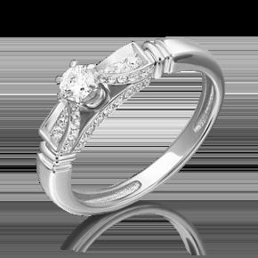 Кольцо из белого золота с бриллиантом 01-5230-00-101-1120-30