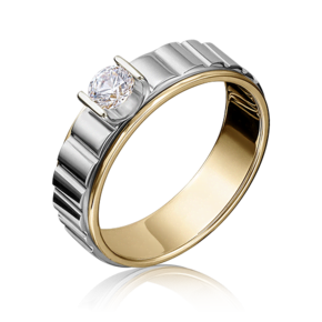 Кольцо из лимонного золота с бриллиантом 01-5114-00-101-1121-30