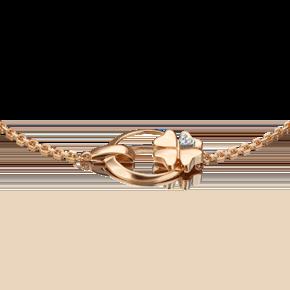 Браслет из комбинированного золота с бриллиантом 05-0696-00-101-1111