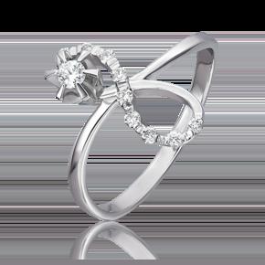 Кольцо из белого золота с бриллиантом 01-0070-00-101-1120-30
