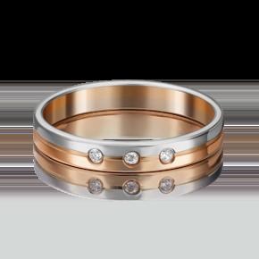 Обручальное кольцо из комбинированного золота с фианитом 01-3506-00-401-1111-21
