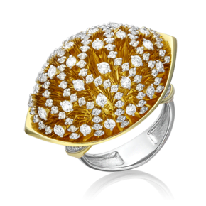 Кольцо из лимонного золота с бриллиантом 01-5555-00-101-1130-30